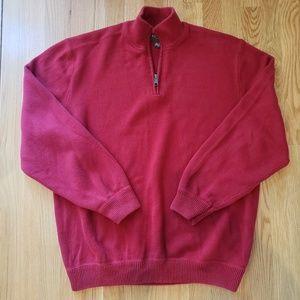 Men's EDDIE BAUER 1/4 Zip Sweater